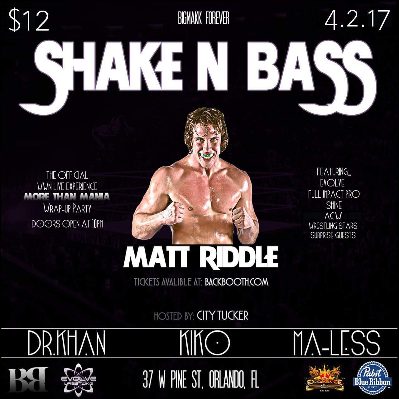 The Official WWNLive Experience 2017 After Party at Backbooth Featuring Matt Riddle!