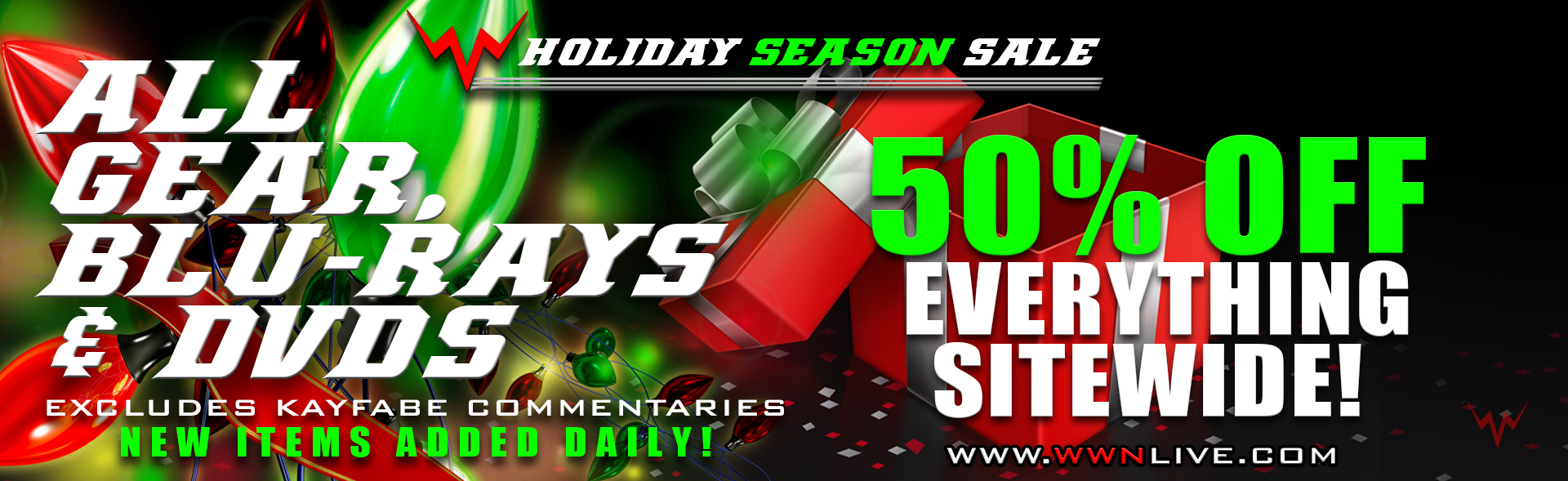 The WWN Holiday Season Sale Continues!