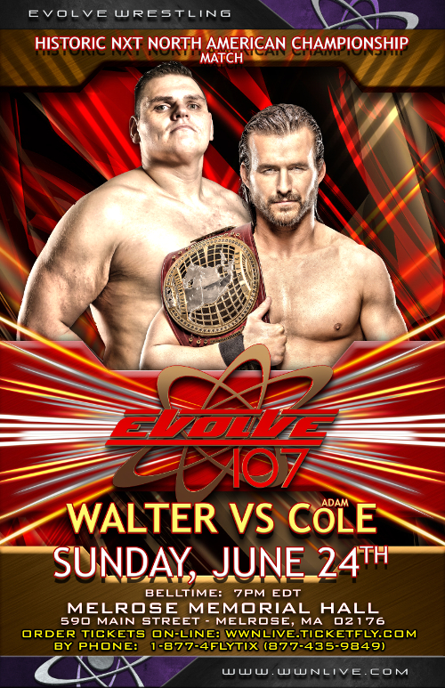 EVOLVE 107 News - NXT North American Champion Adam Cole To Face...