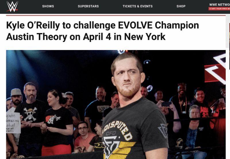 WWE dot come EVOLVE 125