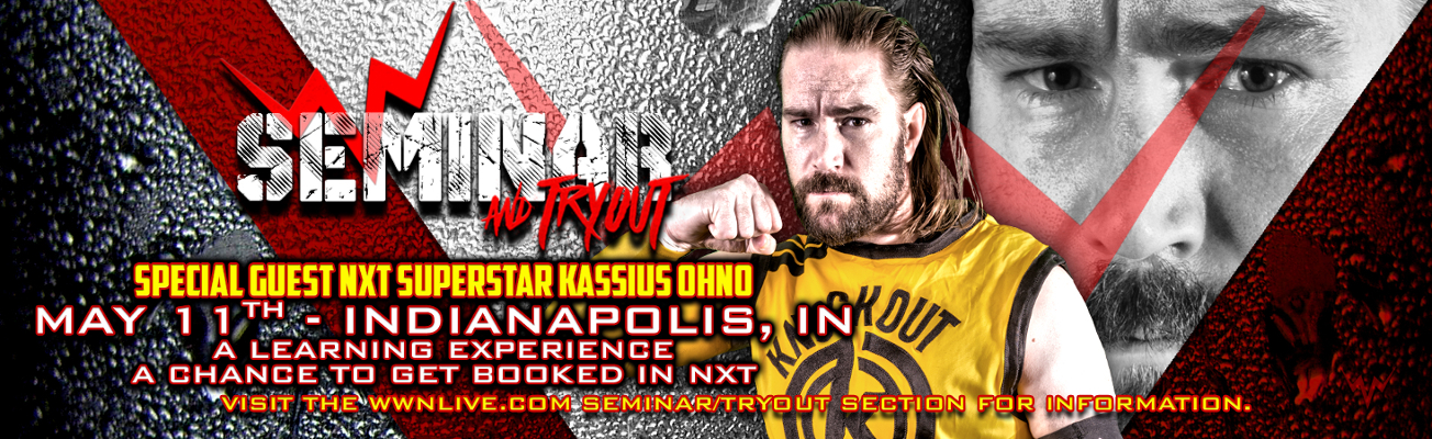 Kassius Ohno To Be Guest Trainer At WWN Seminar/Tryout On May 11th