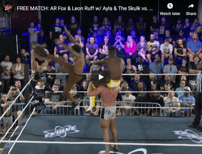 FREE MATCH - EVOLVE 134 - AR Fox & Leon Ruff vs. Curt Stallion & Matt Riddle thumbnail website