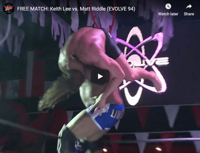 FREE MATCH - EVOLVE 94 - Keith Lee vs. Matt Riddle thumbnail web